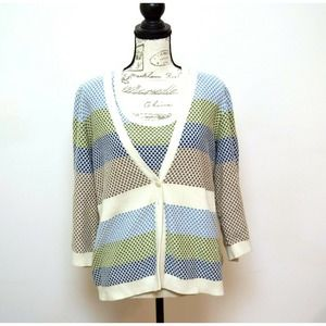 Christopher & Banks Sweater Two Piece 100% Cotton